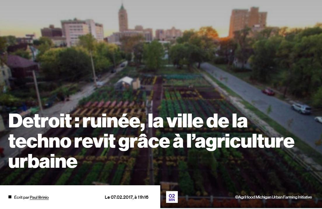 Detroit : ruinée, la ville de la techno revit grâce à l'agriculture urbaine – TRAX