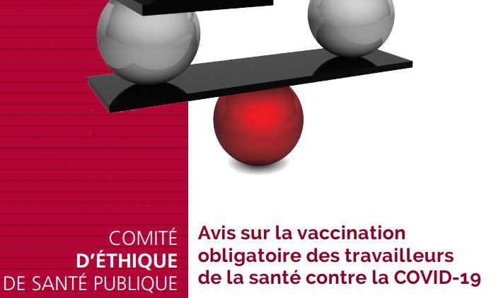 Avis sur la vaccination obligatoire des travailleurs de la santé contre la COVID-19 – Comité d'éthique de santé publique