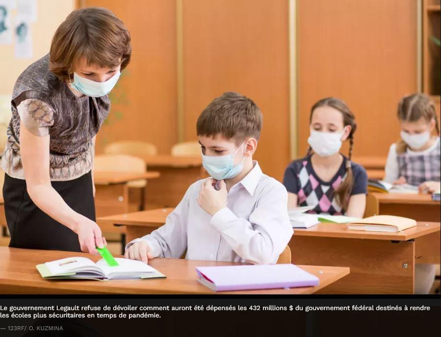 COVID-19: qu'a fait Québec des 432 millions$ du fédéral destinés aux écoles?  LE SOLEIL